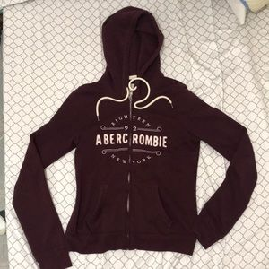 Abercrombie & Fitch Burgundy Coloured Jacket